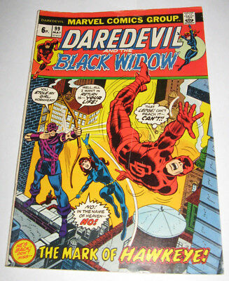 DAREDEVIL & BLACK WIDOW Marvel Comic issue 99