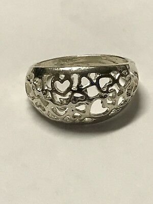 18.25 grams Sterling Silver Mix Ring Lot of 5 ( not scrap ) cross real diamonds