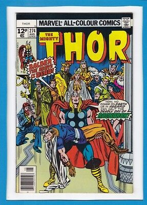 """Mighty Thor #274_August 1978_Vf_""""deadly Day Of Ragnarok""""_Bronze Age Marvel Uk!"""