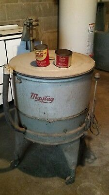 Complete Vintage Maytag Wringer Washer with Parts manuels and greese cans