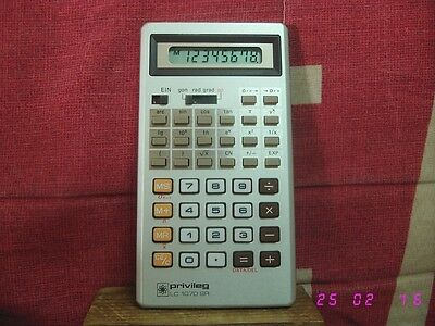 Calculadora cientifica Privileg LC 1070 SR scientific calculator retro vintage.