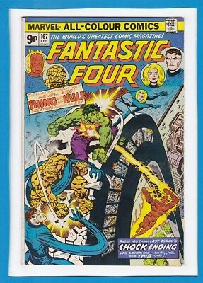 Fantastic Four #167_Feb 1976_Very Fine Minus_Incredible Hulk_Bronze Age Marvel!