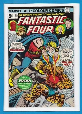 Fantastic Four #165_December 1975_Fine/very Fine_The Crusader_Bronze Age_Uk!