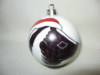 New Handpainted Skunk Santa Claus Unbreakable Christmas Ornament