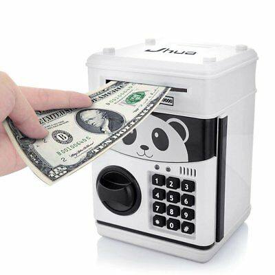 Coin Saving Money Box Jar Automatic Electronic Counting Piggy Bank ATM Digital