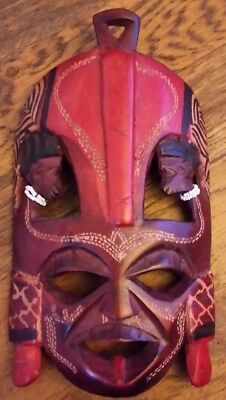 African style carved wooden tribal mask