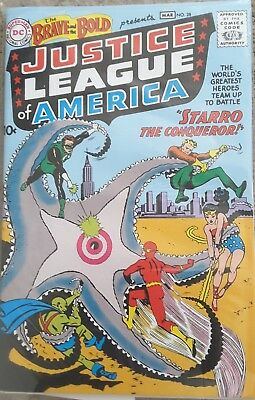 The Brave And The Bold Justice League Of America Marvel Comic Book Reprint