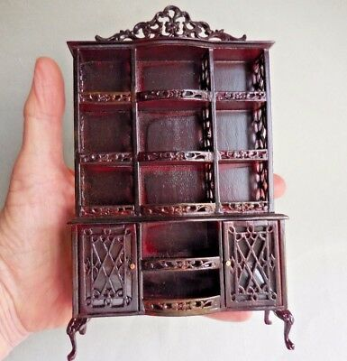 Dollhouse Miniature ~ Mahogany China Cabinet ~ Vintage Bespaq