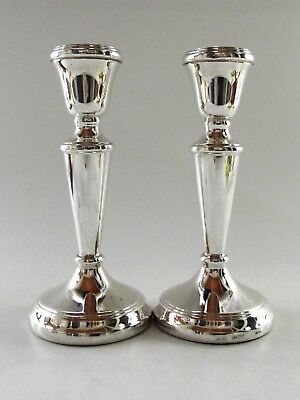 Pair Of Silver Candle Sticks Birmingham 1991 Ref 199/2