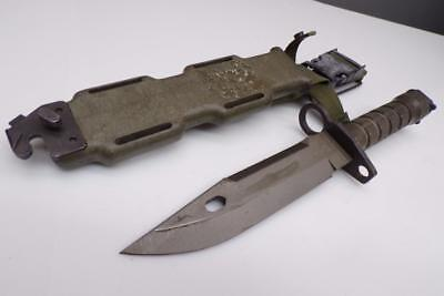 US GI M9-Authentic Lan-Cay US-Military Combat Knife-w/Scabbard Wire Cutter F123b