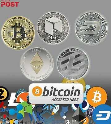 Gold+Silver Plated Bitcoin Novelty Coin. Collectible Brand New Set.