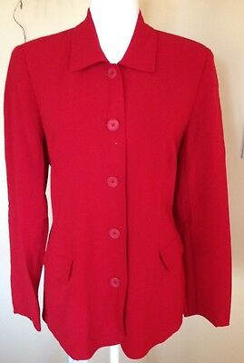 A Pea In The Pod Maternity Jacket~Coat~Christmas Red~Work~Party~Wool Mix~S~EUC