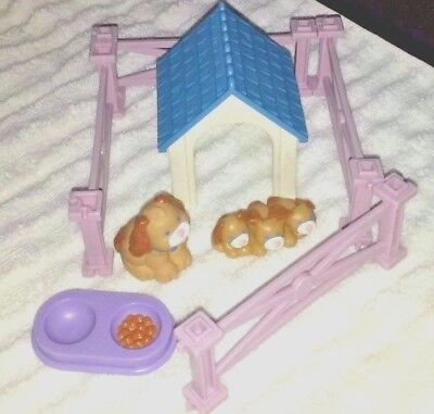 Fisher Price Loving Family Dream Dollhouse Pet Dog House Puppies and Fence