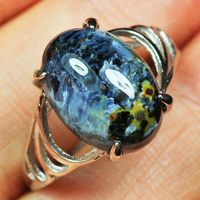 15.75CT 100% Natural 18K Gold Plated Pietersite Cab Ring UDBD17