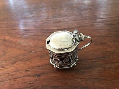 Edwardian Sterling Silver Mustard Pot
