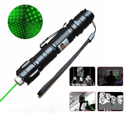 Green Laser Pointer 10 Miles Marine Camping Lamp pen Contains Beam All sky star