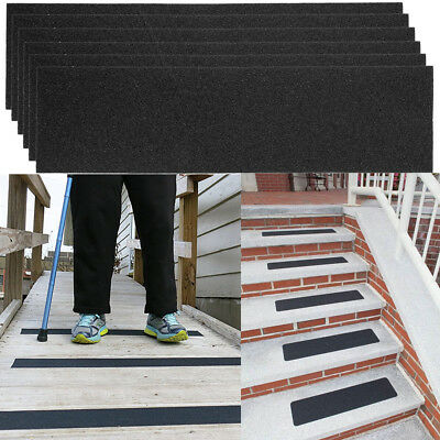 """6pk Non-slip 24"""" x 6"""" Step Safety Treads Skateboard Grip Tape Strips For Stairs"""