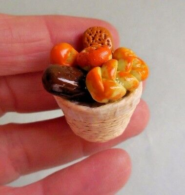 Dollhouse Miniature ~ Basket Of Rolls