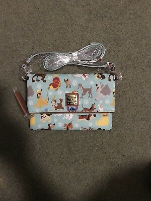 Disney Dooney & Bourke  Dogs foldover zip crossbody NWT Exact Purse