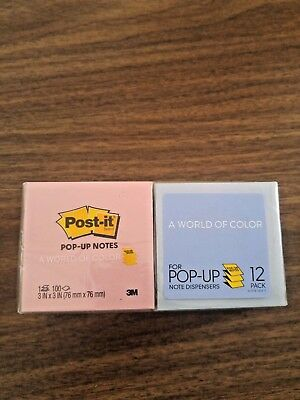 NEW SEALED  Post-it Pop-up Notes R-330-U-ALT, 3 x 3  Assorted Marseille, 12 Pads