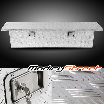 "69"" Silver Aluminum Pickup Truck Bed Underbody Tool Box Trailer RV Tote Storage"