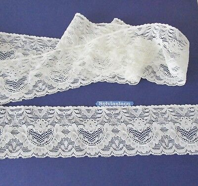 2  metres  of  Cream   Stretch  lace   6 cm  wide