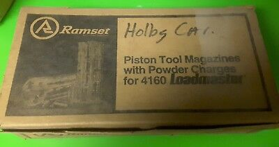 NEW Ramset Piston Tool Magazines With Powder Charges For 4160 Loadmaster