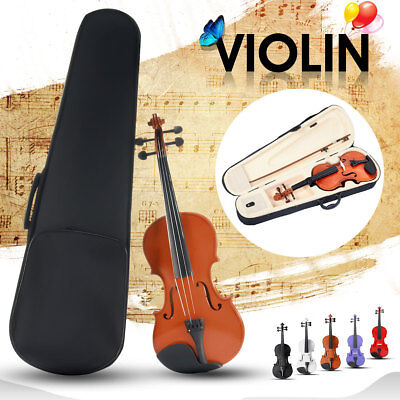 MECO 2017 NEW Wooden Full Size 4/4 Violin Acoustic Basswood Bow Rosin Beginners