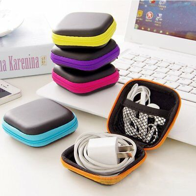 Portable Carrying Storage Case Pouch Bag For Earphone Headphone Earbud SD Card