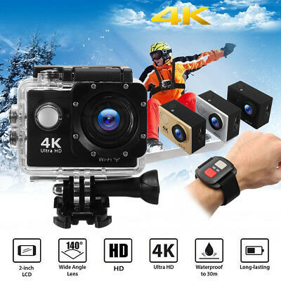 H9R Action Sport Camera DV 4K Ultra HD WiFi 140° 2'' Remote Control Waterproof