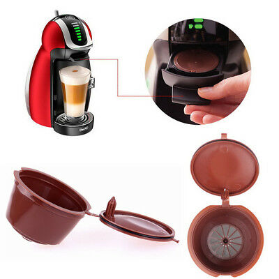 4x Refillable Reusable Coffee Capsules Cup Filter Holder For Nescafe Dolce Gusto