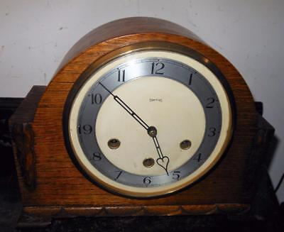 smiths oak cased  westminster chimes mantel clock