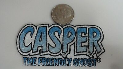 Casper the Friendly Ghost Cartoon Classic Logo Embroidered Iron On Patch - Rare