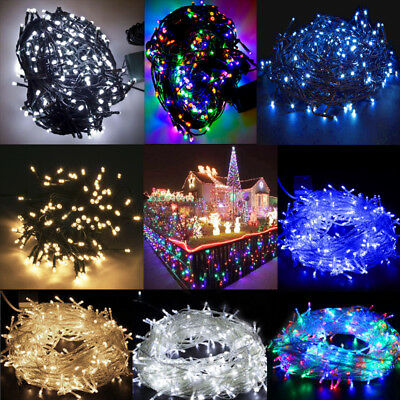 String 30M-100M 200-500 LED Mains Powered Waterproof Xmas Fairy Lights Outdoor