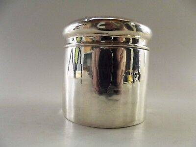 Antique Silver Cylindrical Box Hallmarked Chester 1902 Ref 541/1