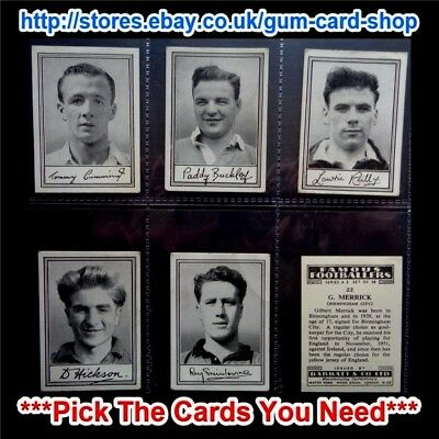 Barratt & Co - Famous Footballers 1954 - A.2 (G) *Pick The Cards You Need*