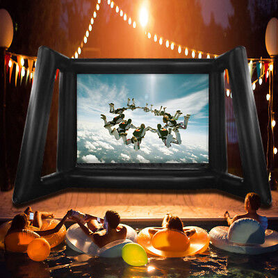 AU Inflatable Open Air Cinema Screen Home Outdoor Movie Projection Screen
