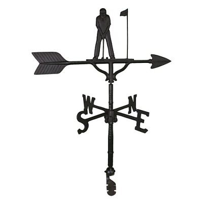 Weathervanes Montague Metal Products 32-Inch Weathervane with Satin Black Cow Ornament