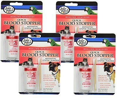 NEW 4 Pack Four Paws Blood Stopper Powder 0.5 Ounce FREE SHIPPING