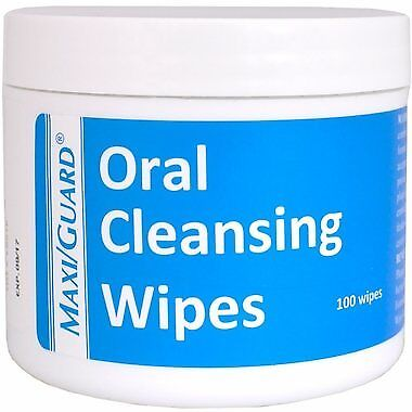 NEW MaxiGuard Oral Cleansing Wipes  100 Wipes FREE SHIPPING