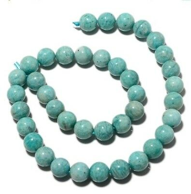 Natural Amazonite Gemstone 10mm Round Beads 7.5 Inch Half Strand 18 Piece MM24/1