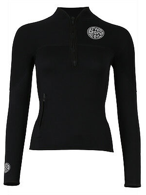 Womens Heritage 3mm Half Zip Wetsuit Jacket Two Bare Feet Surf Sailing Top