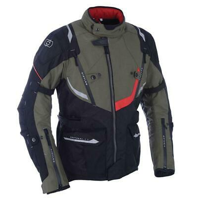 Oxford Montreal 3.0 Motorcycle Motorbike Touring Waterproof Jacket - Army Green