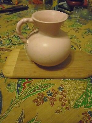 Royal Haeger USA Pottery  Pitcher Pink Twisted Handle RG-28