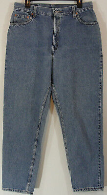 Levis Womens Jeans 550 Size 14 Misses Relaxed Fit Tapered Leg Mom High Waist