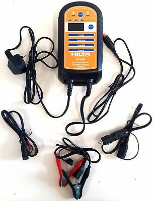 8 Amp Intelligent Smart Battery Charger Suitable For >3.0L Engine