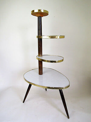 ORIGINAL 1960s PLANTSTAND EAMES PANTON DANISH MODERN PLANT STAND 50s 60s ATOMIC