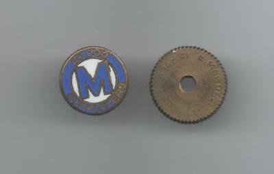 Pins Pin's Boulon Retro 12 Mms Foot Om Olympique Marseille 20000 Supporters Egf
