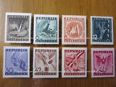 EBS Austria Österreich 1946 Anti-Nazi Exhibition set Michel 776-783 MNH**