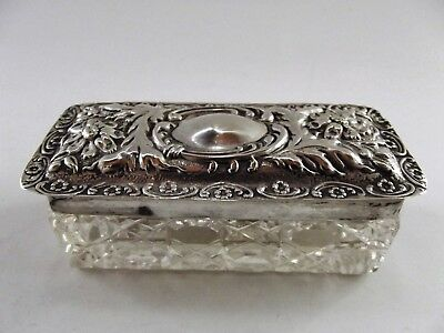 Antique Box With Silver Lid Birmingham 1910 Ref 307/1